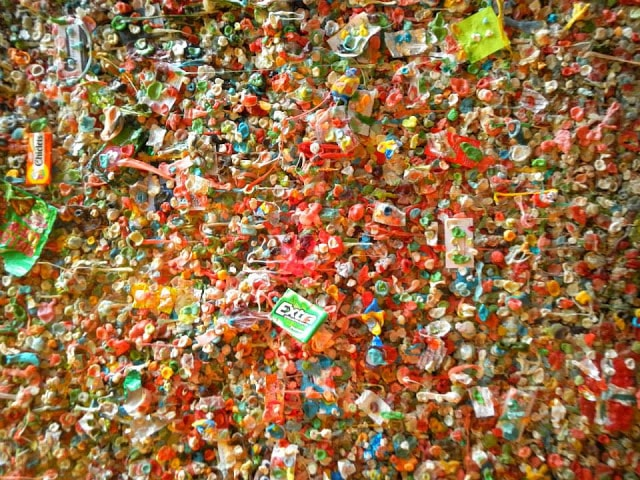 more chewed gums at gum wall seattle by gurlayas.blogspot.com