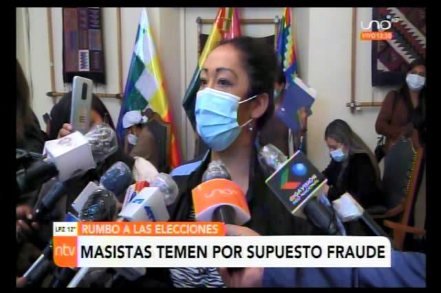 Mireya Montaño cree que el MAS ganará en primera vuelta y si no es porque existiría fraude