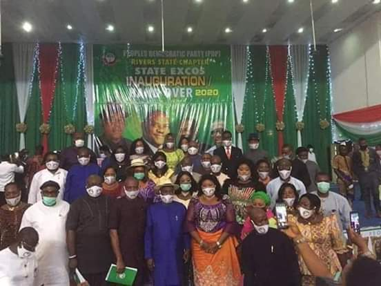 Rivers PDP Inaugurates Excos During Coronavirus Pandemic Without Social Distancing (Photos)