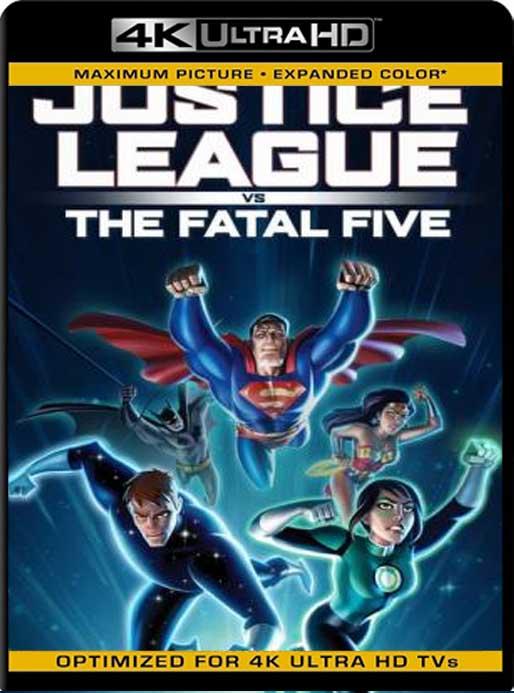4k Uhd Vs 1080p: La Liga De La Justicia Vs Los Cinco Fatales (2019) 4K