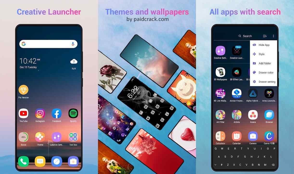 Creative Launcher Premium Apk