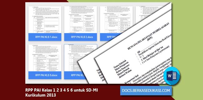 RPP PAI Kelas 1 2 3 4 5 6 untuk SD-MI Kurikulum 2013