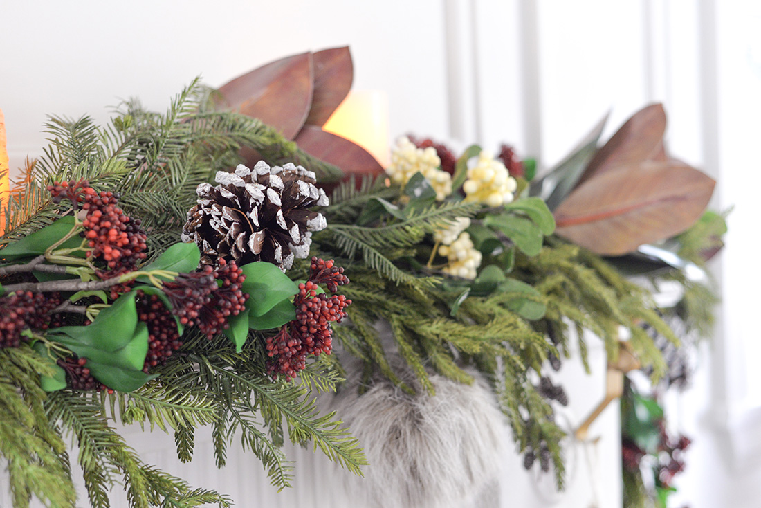 christmas fireplace mantel garland, christmas fireplace mantle garland, faux garland, cedar garland