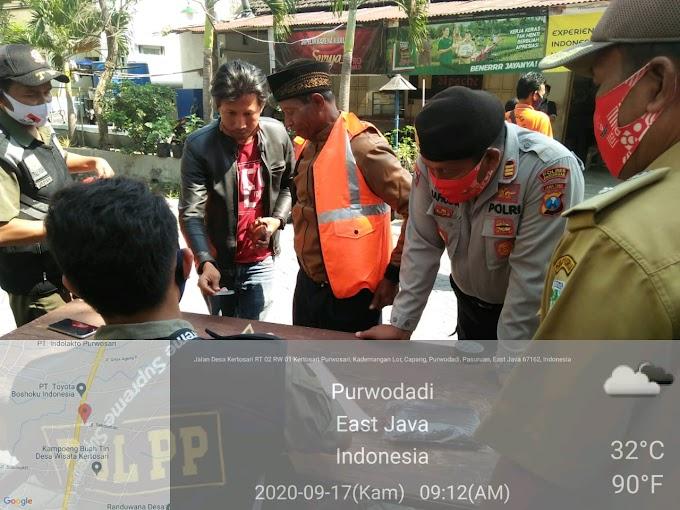 Giat Operasi Yustisi Polsek Purwosari bersama TNI - POLRI