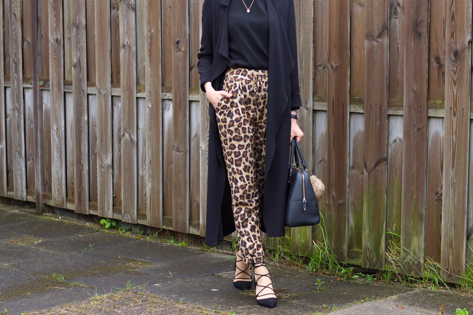 Leopard Trousers X Long Jacket