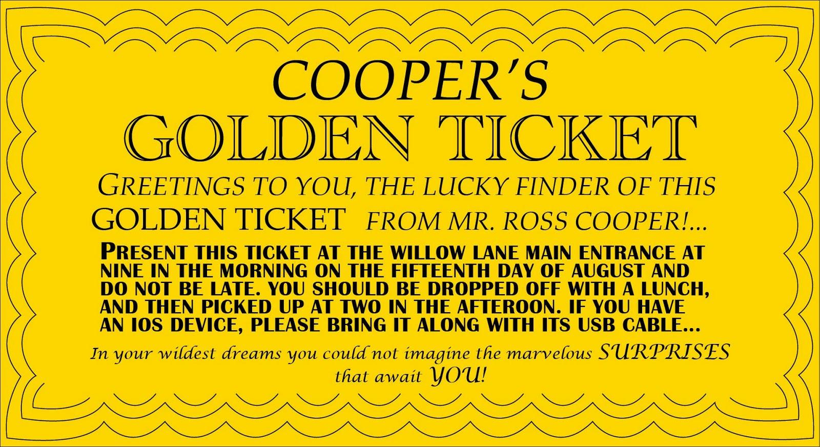 Golden Ticket Template. golden ticket template the golden ticket ...