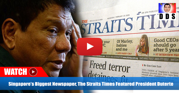 Singapore's biggest newspaper, the Straits Times has taken notice of PH President and his loyal supporters!