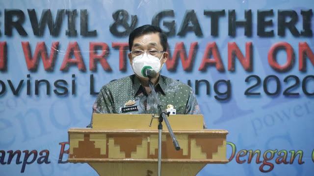 Gubernur Lampung Arinal Djunaidi Buka Rakerwil Ikatan Wartawan Online Lampung 2020