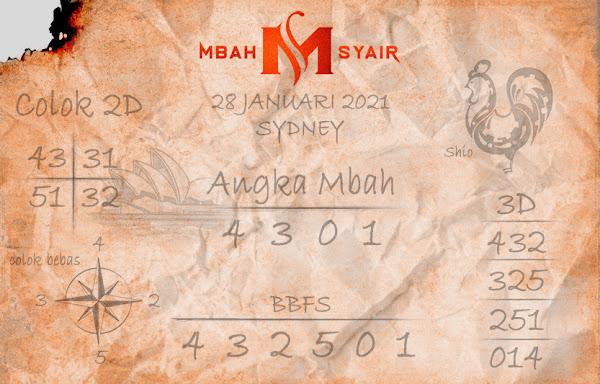 Kode Syair Sydney 28 Januari 2021 Hari Kamis