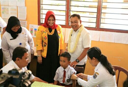 Walikota Binjai Canangkan Kampanye Imunisasi MR
