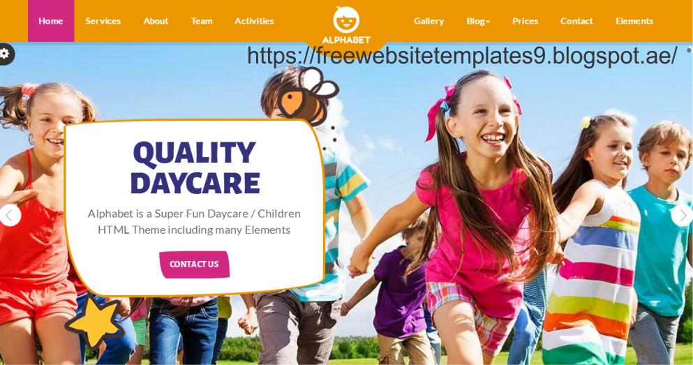 Alphabet Daycare School Html5 Free Html Templates Free