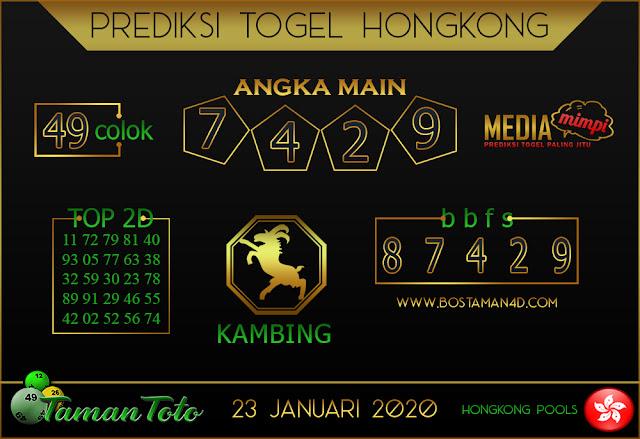Prediksi Togel HONGKONG TAMAN TOTO 22 JANUARI 2020