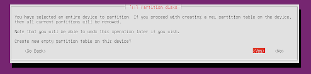 ubuntu minimal CD new partition table