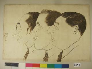 """Antonio de Guezala, """"A Paris"""", (Caricatura de Tellaeche, Cabanas Oteiza y Guezala)"""