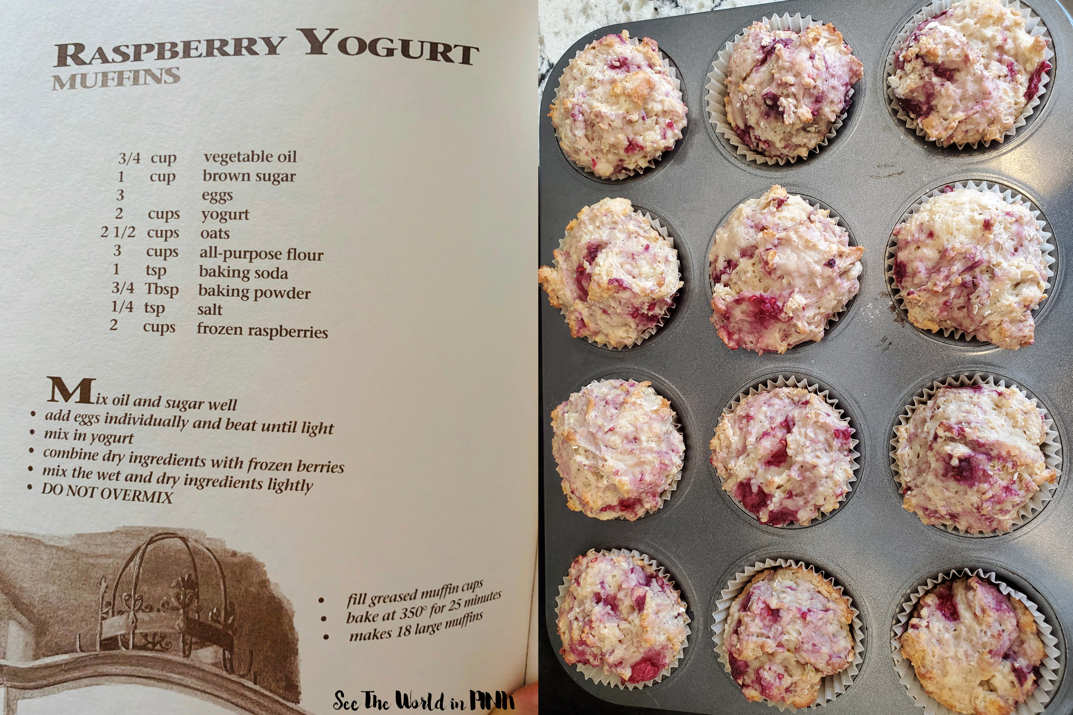 Heartland Cafe Raspberry Yogurt Muffins