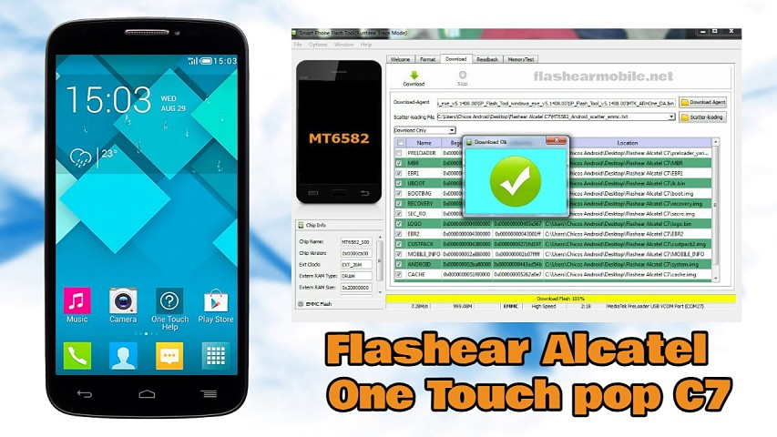 descargar firmware alcatel one touch 7040e