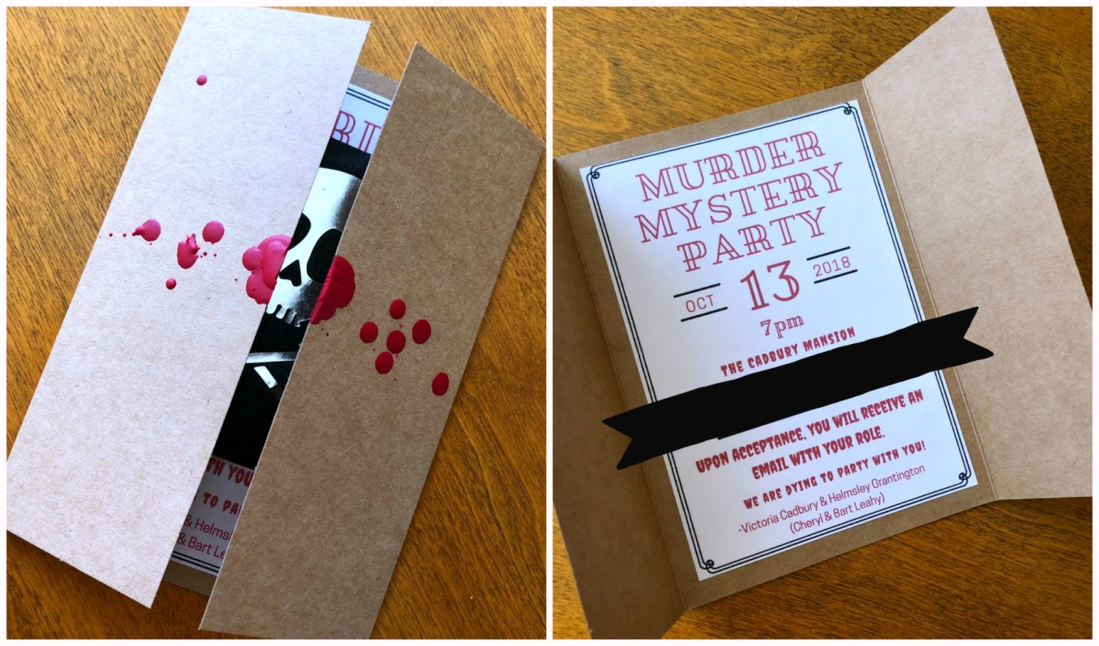Murder Mystery Party DIY Invitations