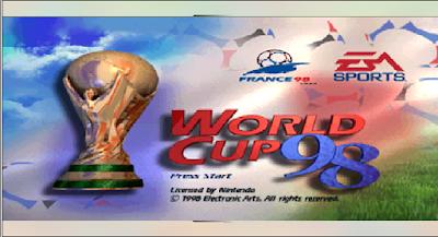 【N64】實況足球世界盃98(World Cup 98),擬真的運動競賽遊戲!