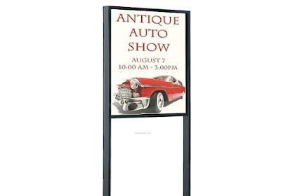 Macam-Macam Model Floor Standing Display Poster