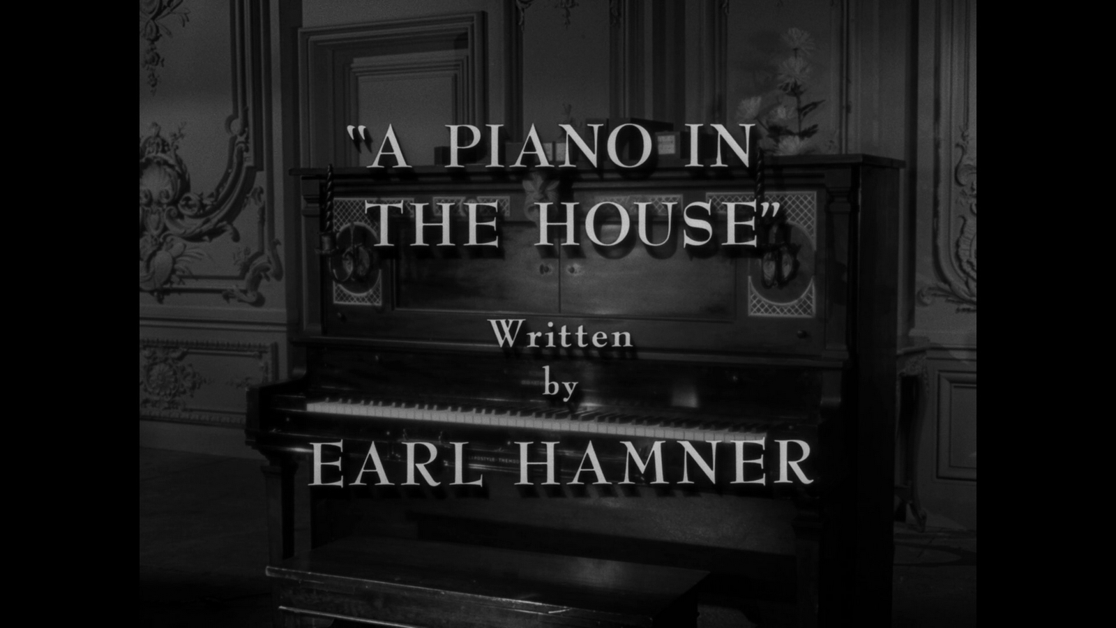 My Life In The Shadow Of The Twilight Zone Tz Promo A Piano In The House 2 16 1962