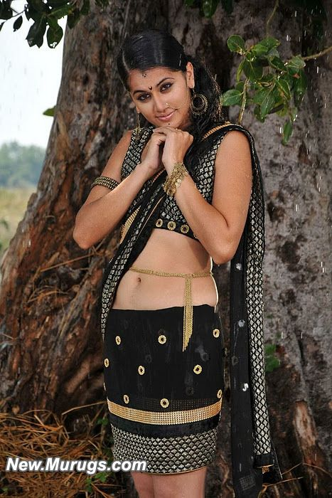 Hot Tapasee Pannu Wet Black Navel Latest Pics
