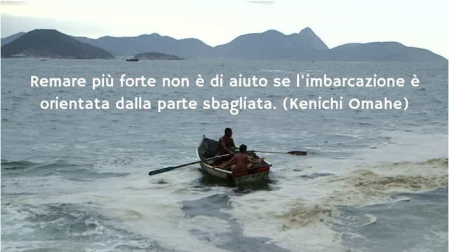 remare più forte non serve se la barca è orientata nella direzione sbagliata