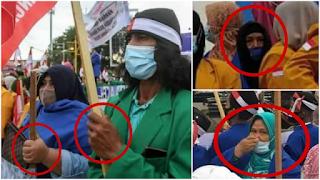 Kekurangan Massa, Demo Tolak HRS di Aceh Akhirnya Kerahkan Emak-emak Beralmamater