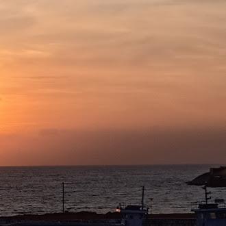 sunrise point kanyakumari landscape royalty free image