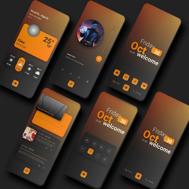 Elegant klwp animation Theme for android