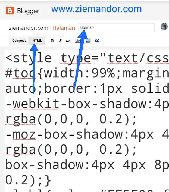 Script untuk sitemap blogger (blogspot)