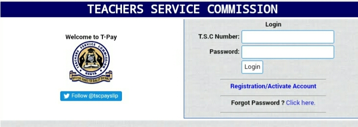 TSC Online Payslips and Password Reset
