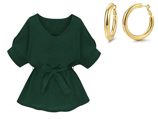 usf women green and gold outfit