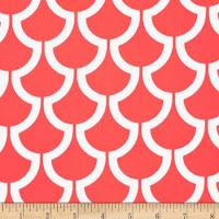 salmon home decor fabric