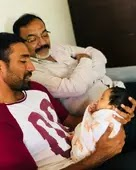 robin uthappa with her father