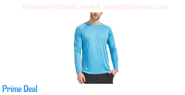 40%OFF CQC Men's Outdoor Long Sleeve T-Shirt Quick Dry Athletic Running     Shirts UPF 50+ Sun Protection