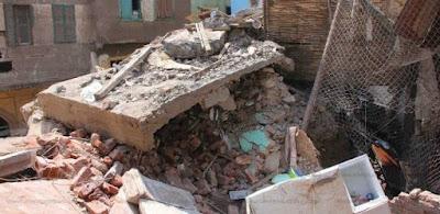 انهيار 4 منازل بقرية الخذندارية فى سوهاج دون خسائر بالأرواح