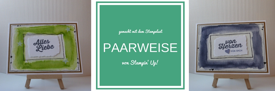 Karte, Stampin Up, Sale-a-bration, Paarweise, Aquarellfarbe, Farngrün, Blauregen, Loewchenzimmer, Löwchenzimmer