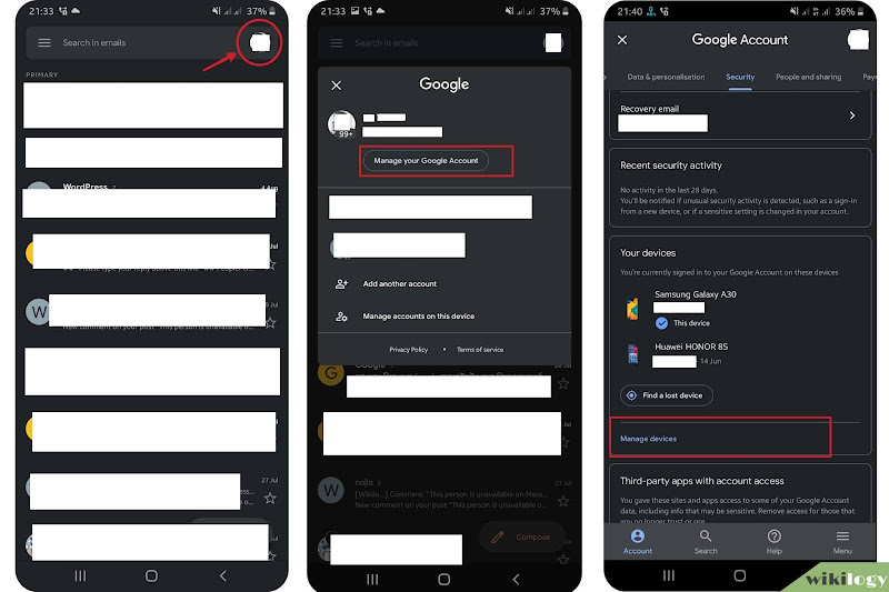 How to log out Gmail on Mobile (Android and iPhone) using settings