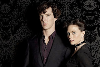Benedict Cumberbatch and Lara Pulver as Sherlock Holmes and Irene Adler in A Scandal in Belgravia