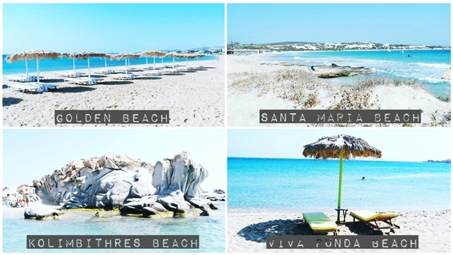 PAROS ISLAND beaches travel video: Kolimbithres,Santa Maria,Mikri Santa,Viva Punda,Golden beach