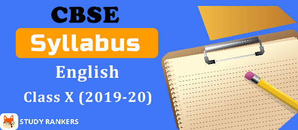 CBSE Class 10 English Syllabus 2019-20