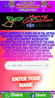Merry Christmas wishing script for