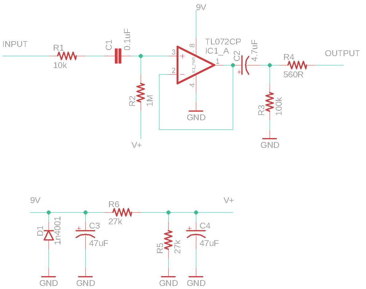 Klon Buffer schematic