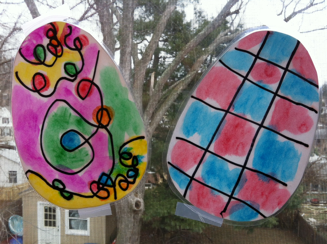 Play Stained Glass Easter Eggs Play Eat Grow