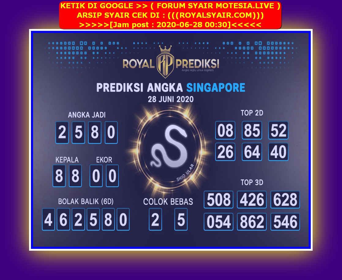 Kode syair Singapore Minggu 28 Juni 2020 178