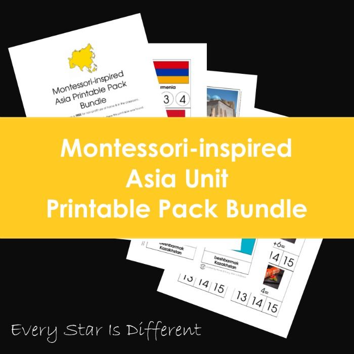 Montessori-inspired Asia Unit Printable Pack Bundle
