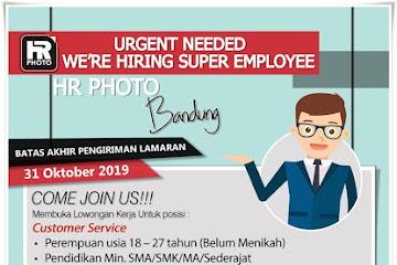Lowongan Kerja Bandung Karyawan HR Photo Bandung