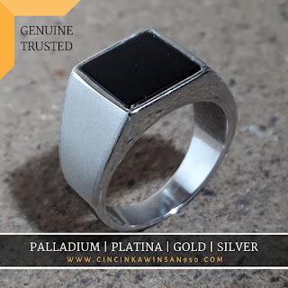 sentra cincin emban pria batu mulia custom ukir handmade perak emas paladium platina