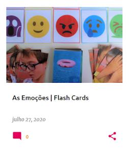 """Flash Cards sobre as Emoções, com base no livro """"O Novelo de Emoções"""""""