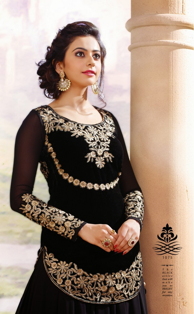 Rakul Preet Beautiful Stills In Black Designer Dress